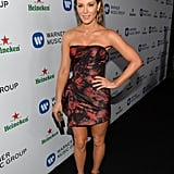 Kate Beckinsale in Red and Black Dress