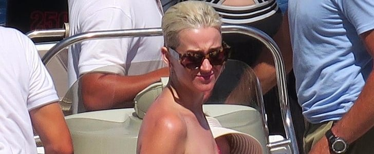 Katy Perry's One-Shoulder Swimsuit Has Just the Right Amount of Spice