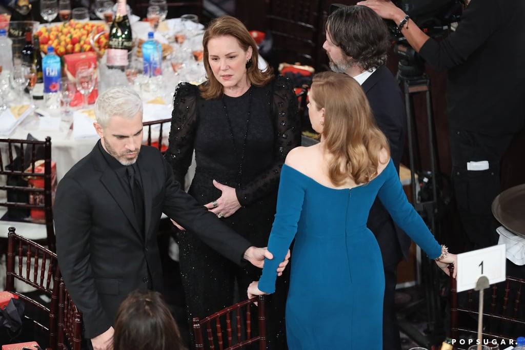 Pictured: Chris Messina, Elizabeth Perkins, and Amy Adams