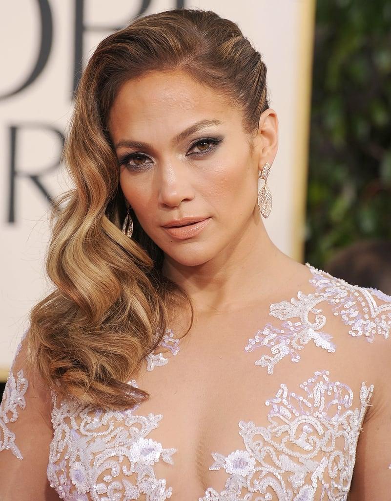 Jennifer Lopez's Sideswept Waves in 2013