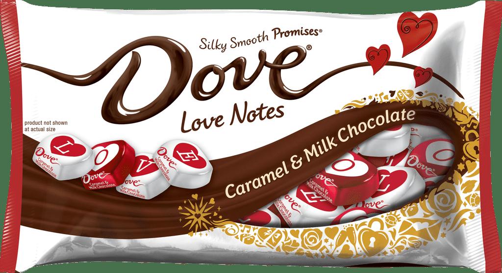 Dove Love Notes in Caramel & Milk Chocolate