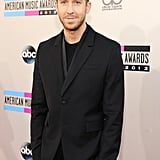 Calvin Harris went with an all-black look.
