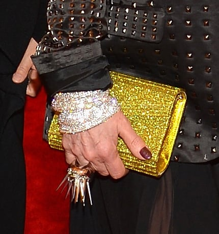Debbie Harry carried a glitzy clutch and added punk appeal with a spiked ring.