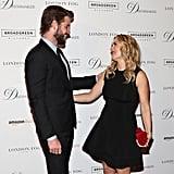 With Liam Hemsworth