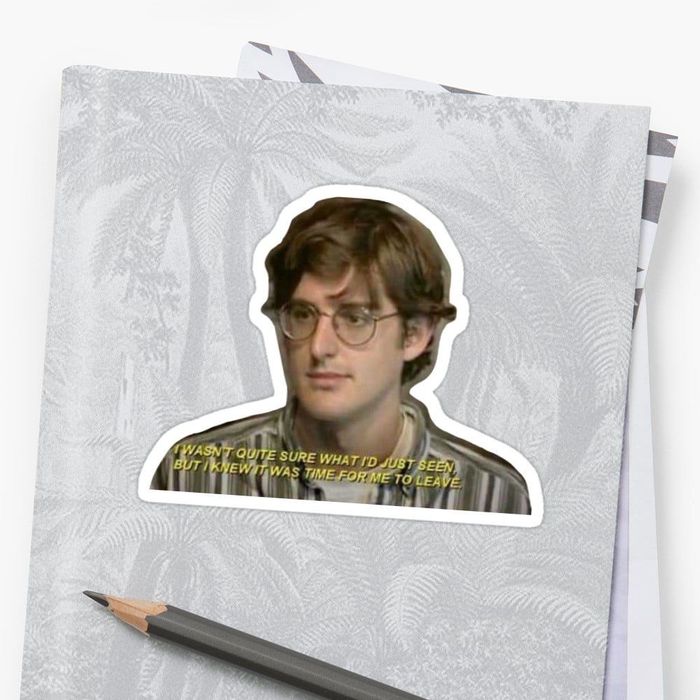 Louis Theroux Quote Sticker