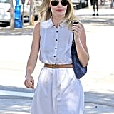 Kate Bosworth wore aviator sunglasses.