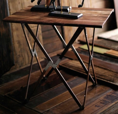 Folding Camp Table, $375