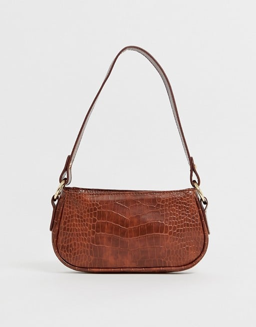 ASOS Croc Effect 90s Shoulder Bag