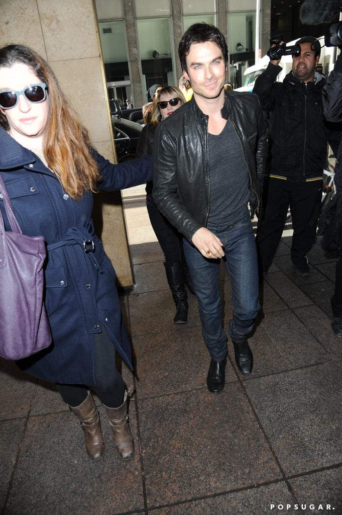 Ian Somerhalder dropped by Live! With Kelly and Michael in NYC.