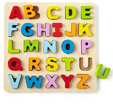 giggleBABY Wooden ABC Standup Puzzle ($20)
