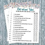 Old Wives' Tale Baby Shower Game