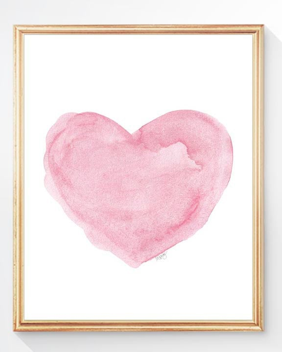 Watercolor heart painting ($18)