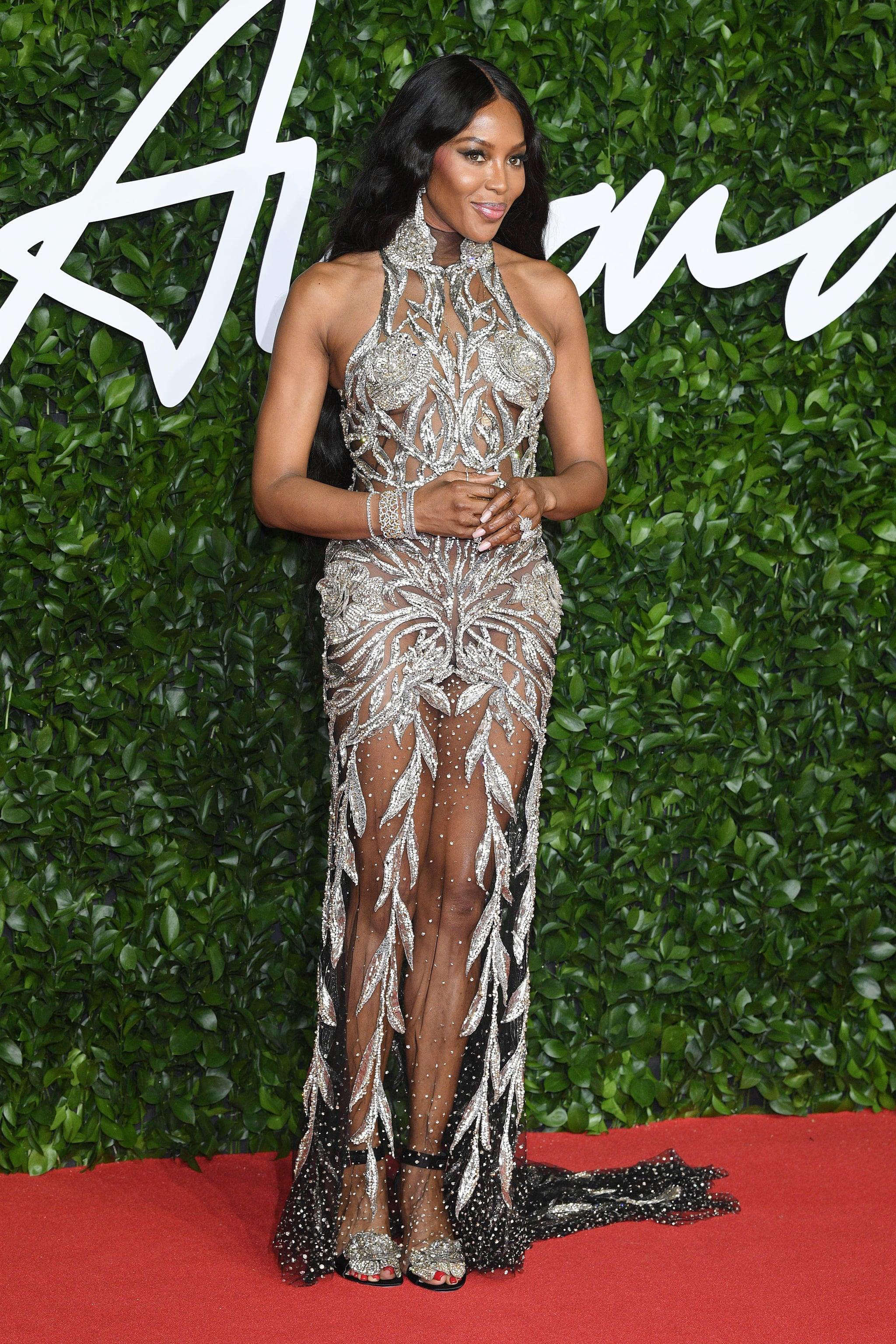 Naomi Campbell at the British Fashion Awards 2019
