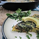 Brussels Sprouts and Spinach Truffle Frittata