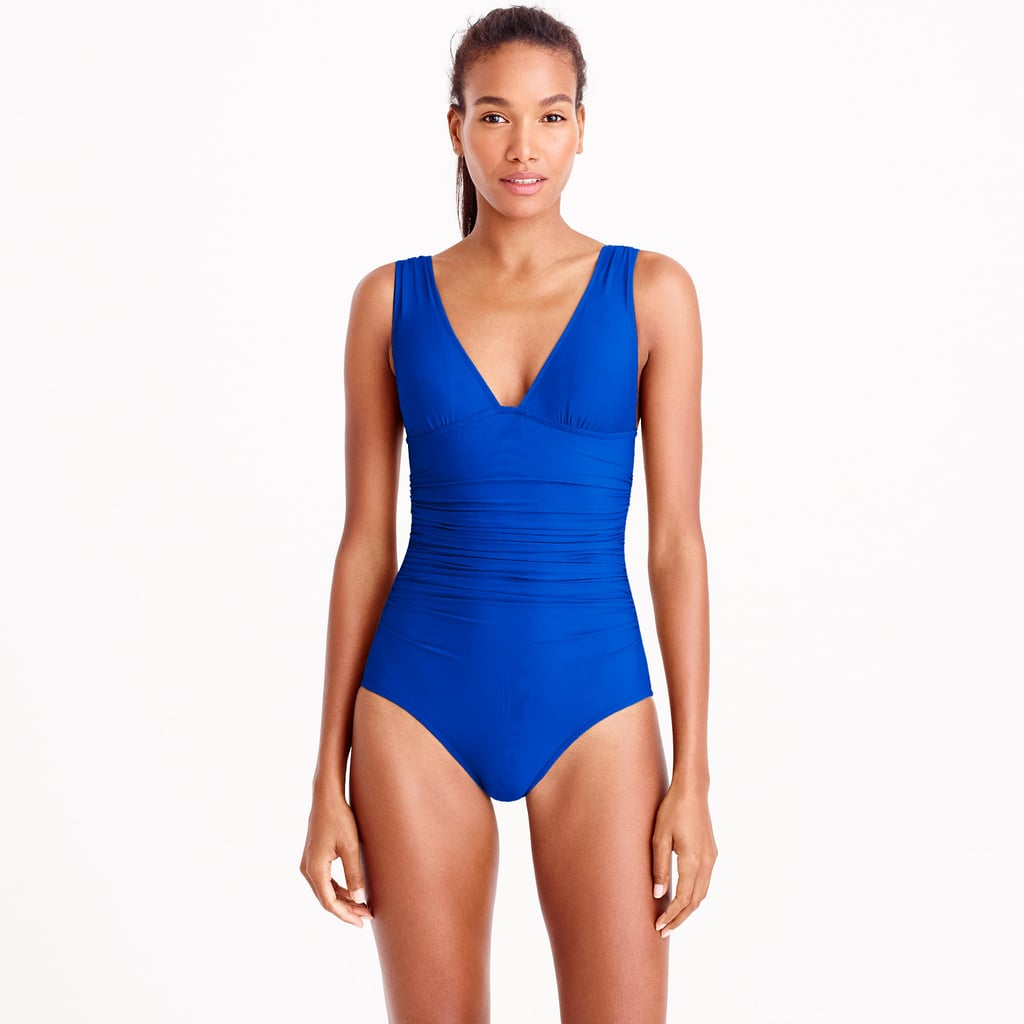 5ff64859fa J.Crew Ruched Femme One-Piece Suit