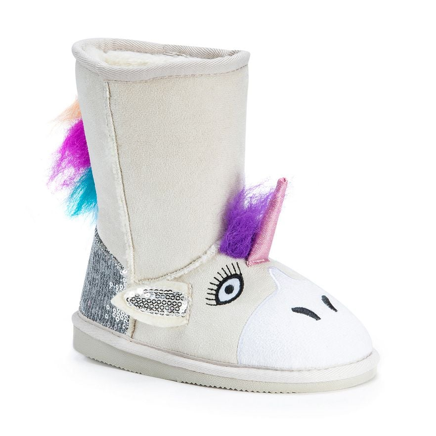 Unicorn Plush Boots