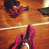 This reader had time to snap a pic before the madness of her bootcamp class started.  Source: Instagram user mrssmc