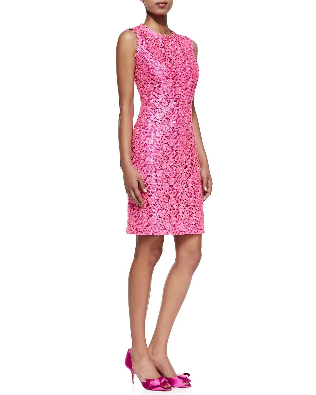 Kate Spade New York hot-pink lace sheath dress ($428)
