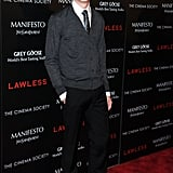 Dane DeHaan wore a sweater and tie to the screening of Lawless in NYC.