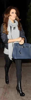 Eva Longoria Carries Birkin Bag