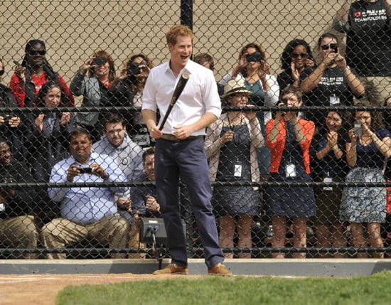 group-fans-watched-Prince-Harry-while-he-tried-his-hand