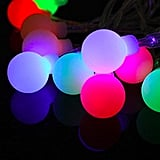 Frosted LED Multi-Colored Globe String Lights With Remote Control