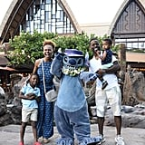 Sterling K. Brown and Family at Disney's Aulani Resort 2017