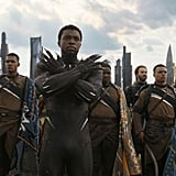 Black Panther (Chadwick Boseman) prepares for battle.