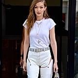 Kendall Jenner Wearing Gucci Snakeskin Belt