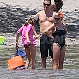 Reese Witherspoon on vacation in Costa Rica with her family.