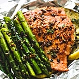 Herb Butter Salmon and Asparagus