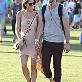 Ashley Greene walked hand in hand with boyfriend Paul Khoury.