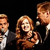 Isla Fisher, Alec Baldwin, and Chris Pine had a laugh during a Q&A session for Rise of the Guardians.