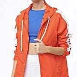 Active Contrast-Striped Windbreaker
