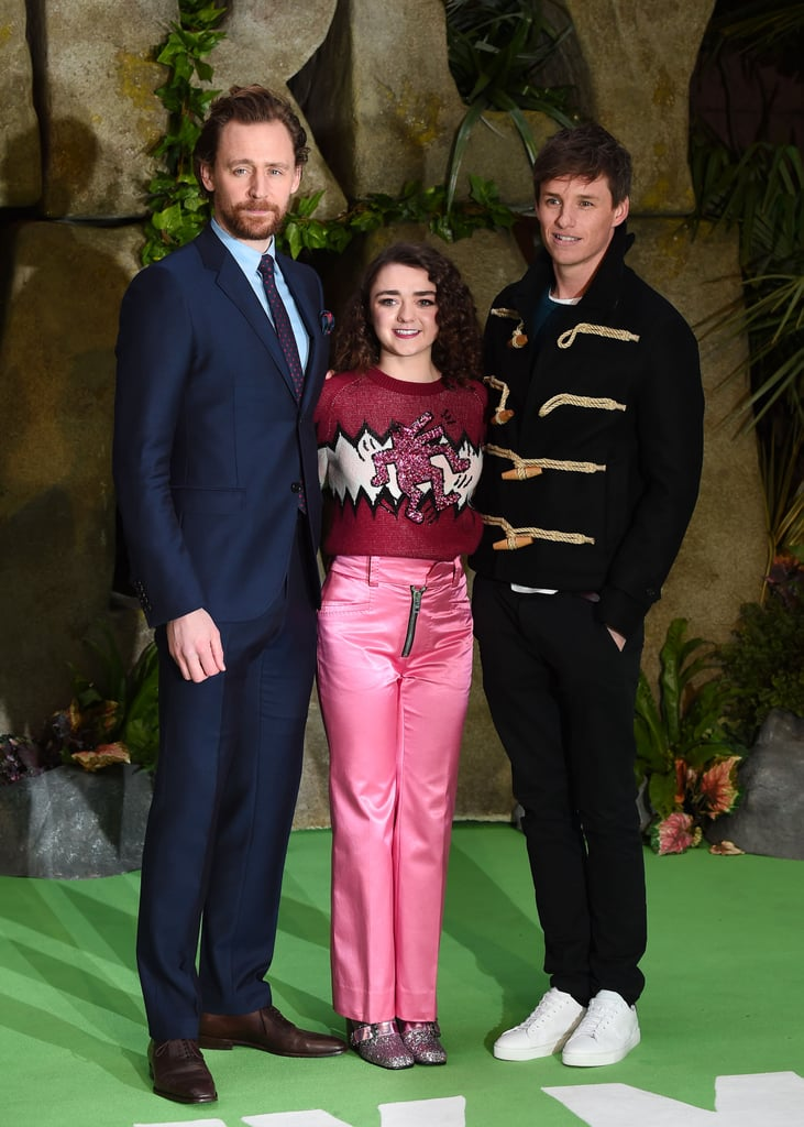 Tom Hiddleston, Maisie Williams, Eddie Redmayne at Early Man