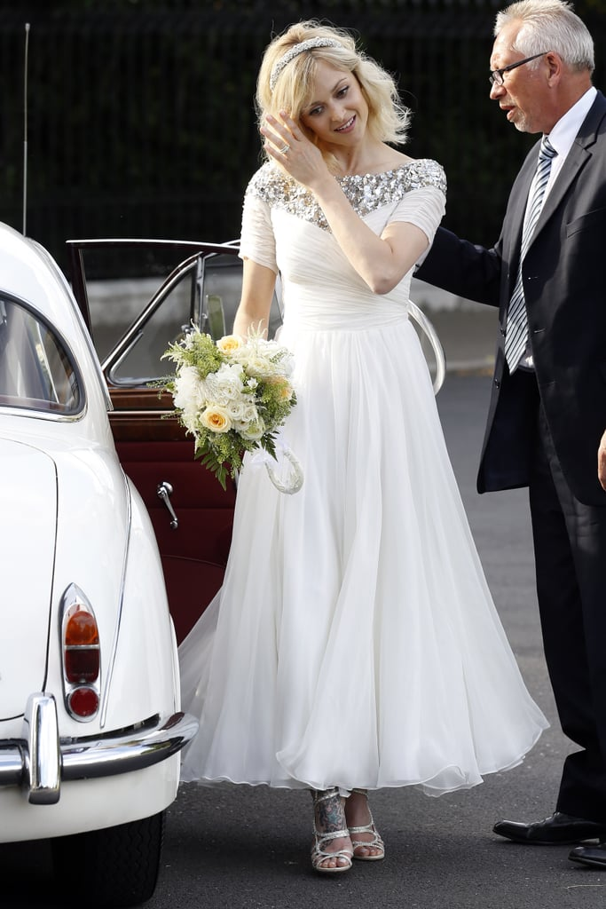 Fearne Cotton in her wedding dress