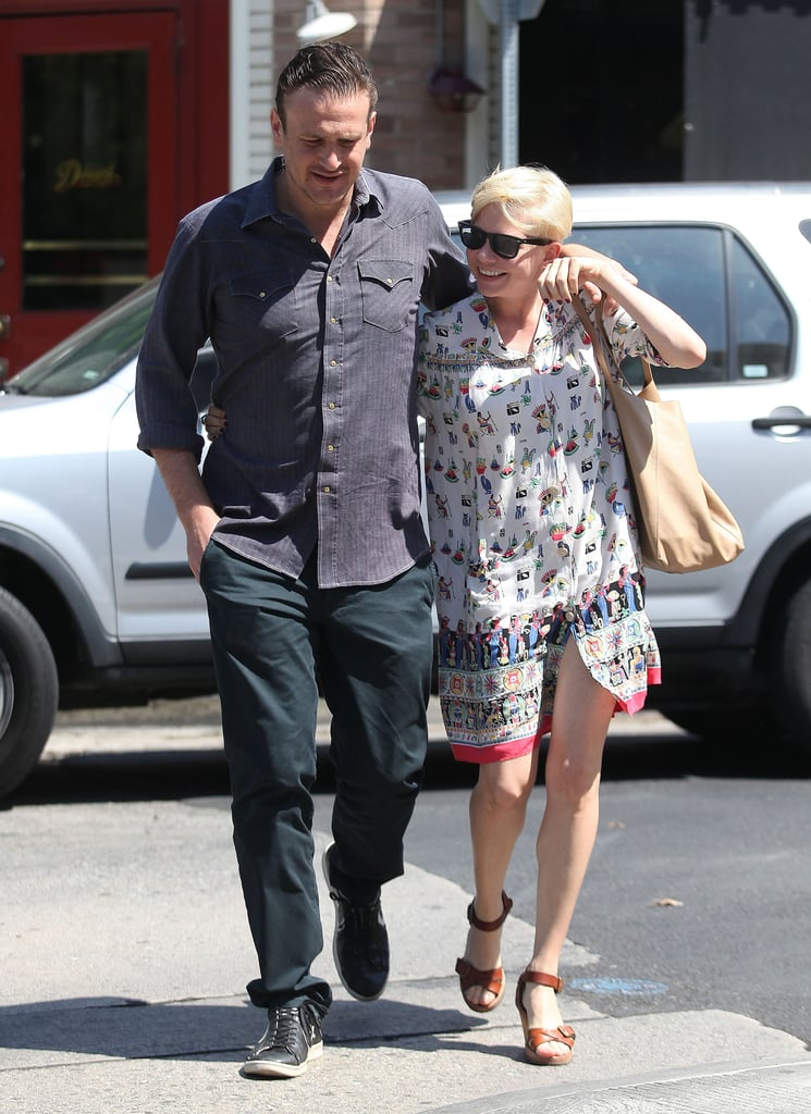 Jason Segel and Michelle Williams dropped off her daughter, Matilda, at a Summer camp in LA yesterday. Jason and Michelle then made their way to Little Dom's, where they had an adults-only lunch date. The couple was fresh off a weekend of family fun. Matilda, Jason, and Michelle went to LA's Magic Castle, where they checked out professionals performing sleight-of-hand tricks. Jason has had free time to spend with his leading ladies when he's not required on the set of How I Met Your Mother. His CBS series returns to TV next month, and he also has This Is 40 heading to the big screen on Dec. 21.