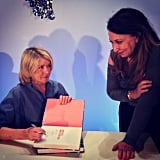 Celebrity manicurist Deborah Lippmann and Martha Stewart are totally having a moment here.  Source: Instagram user deborahlippmann