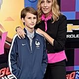 Pictured: Kim Raver and son Leo Kipling Boyer