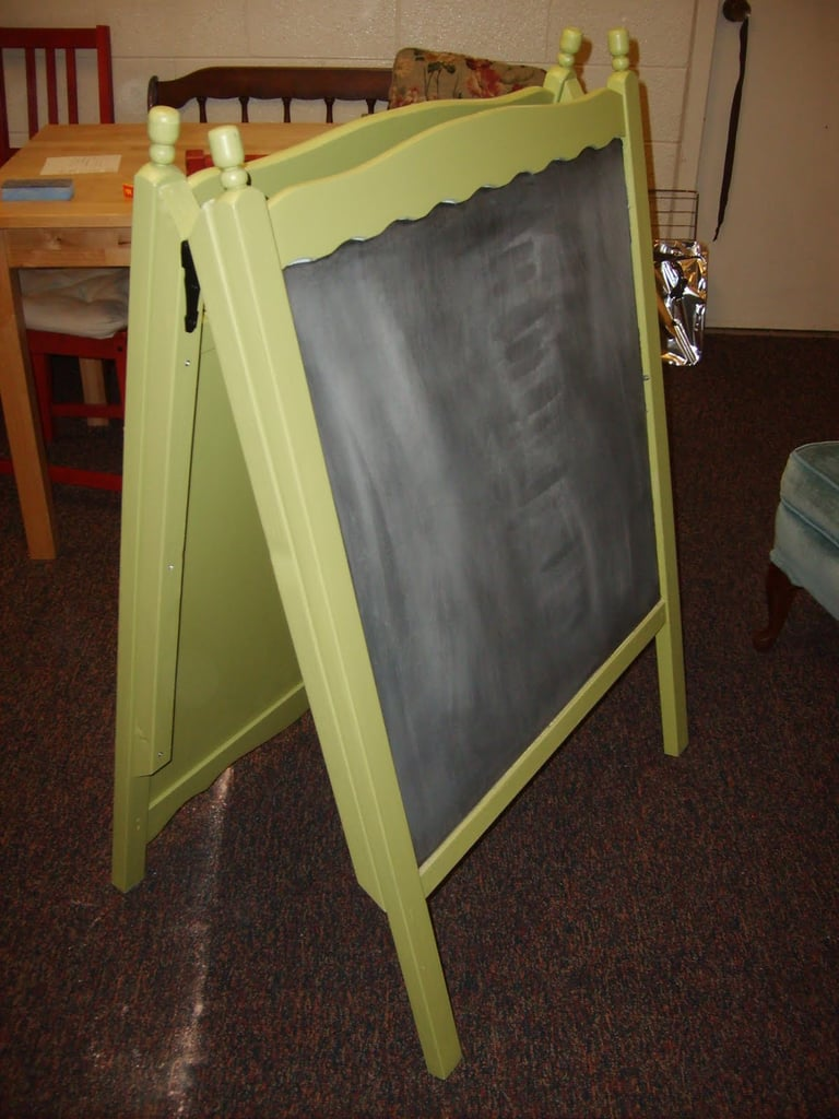 Upcycle Your Crib Into an Easel Board