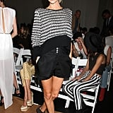 Poppy Delevingne was all smiles at Wednesday's Sass & Bide show.