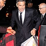 George Clooney had help with his bags.