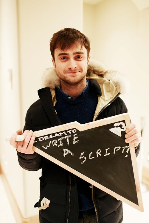 Daniel Radcliffe shared his dreams to someday write a script while celebrating at the Sundance hot spot Everest Mansion, powered by Saygus.