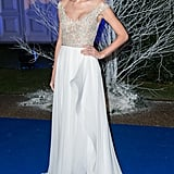 Swift channeled her inner snowflake princess in a sequin bodice Reem Acra creation for the Winter Whites Gala at Kensington Palace in London.