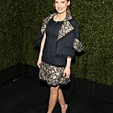 Jessica Chastain was all smiles at the Chanel and Charles Finch dinner at Madeo.