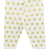 Gold Polka-Dot Leggings