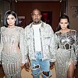 Pictured: Kim Kardashian, Kanye West, and Kylie Jenner