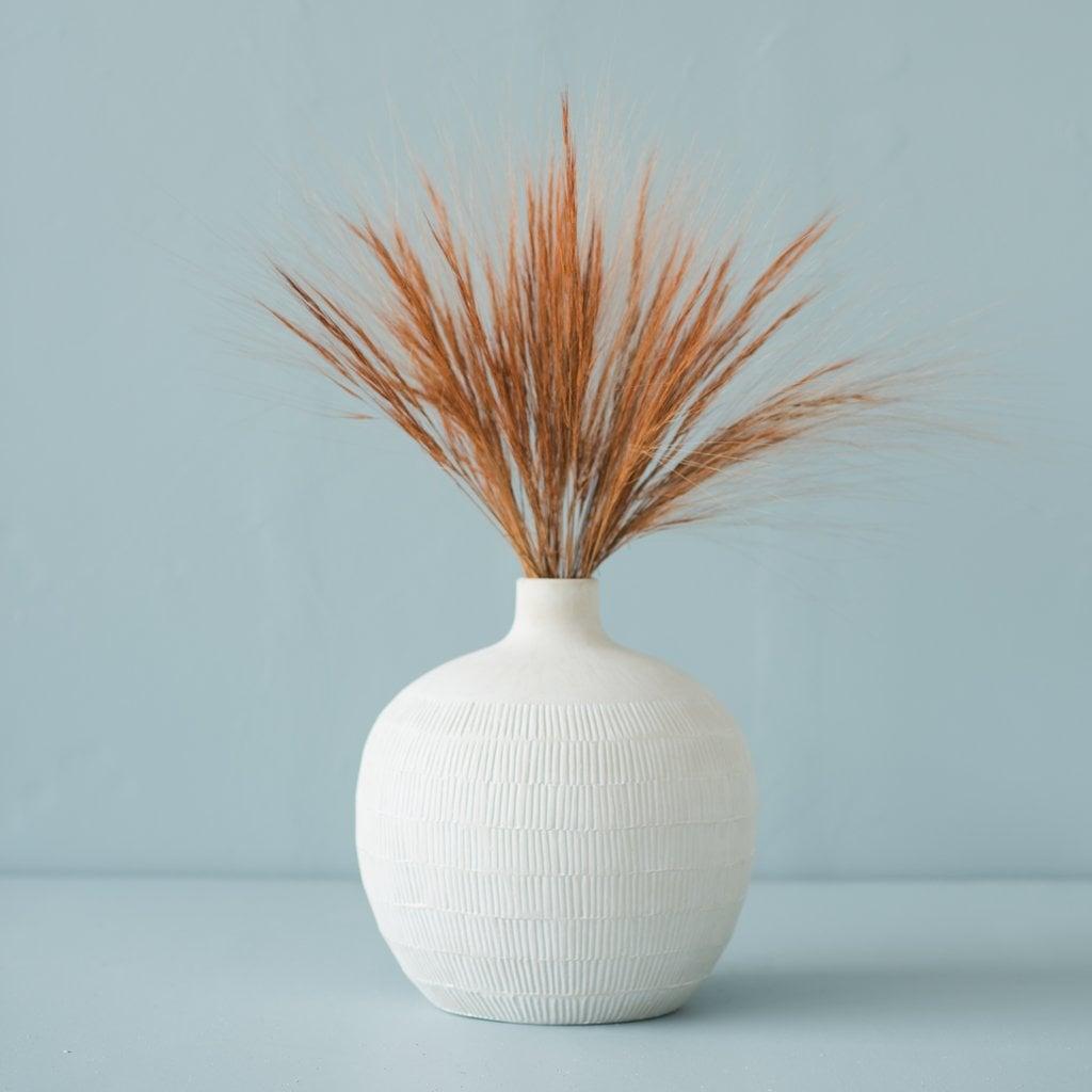 Oversized Etched Zoe Vase