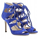 We can already picture celebs like Diane Kruger and Zoe Saldana wearing these mesmerizing cobalt blue heels on the red carpet.  Jimmy Choo Gladys Suede Sandals ($995)