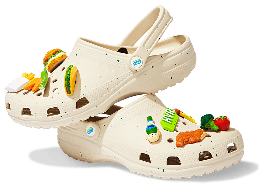 I really, really love ranch, but Crocs's new collaboration has me wondering if I love it this much. The comfy-footwear company teamed up with Hidden Valley Ranch and streetwear brand The Hundreds to create a ranch-inspired version of its Classic Clog, and boy, did they deliver. The off-white Crocs have green speckles (yes, actually) and even come with Jibbitz shoe charms of foods you might dip into ranch, like chicken nuggets, pizza, veggies, and french fries.  After briefly going on presale back in May, the Crocs are now officially on sale . . . but only in limited quantities. Respectfully, I won't be copping a pair, but for those interested in wearing their favorite condiment on their feet, they're available to purchase on Crocs's website through its drawing system. From Sept. 16 at 2 p.m. ET to 12 p.m. ET on Sept. 20, fans can enter the drawing for a chance to buy the clogs for $70. They can also enter the giveaway on Saweetie's Instagram to possibly win pizza, ranch, and the beloved Crocs for free. Unlike the KFC Crocs, the Hidden Valley Ranch ones sadly (thankfully?) won't smell like their inspiration, but I guarantee ranch-lovers will still get a kick out of the clogs. Get a closer look at the, ahem, unique shoes ahead.      Related:                                                                                                           Crocs Is Reopening Its Free Pair For Healthcare Program After Donating $40 Million Worth of Shoes